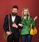 Fashion And Beauty. Autumn Street Style. Love Relations. Autumn Fashion Trends. Couple In Love In Fa poster