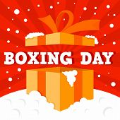 Boxing Day Big Sale Concept Background. Flat Illustration Of Boxing Day Big Sale Vector Concept Back poster