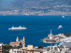 foto of messina  - view of the strait and Messina - JPG