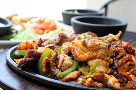 pic of mexican food  - Mexican fajitas - JPG
