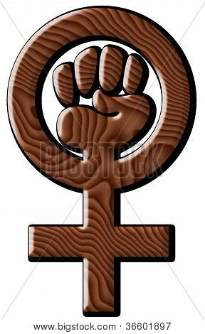 Woman Power in Wood Grain