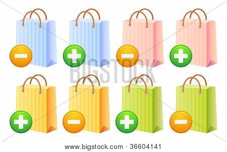 Shopping Bags And Button