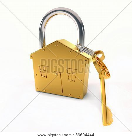 Bronze Lock And Key