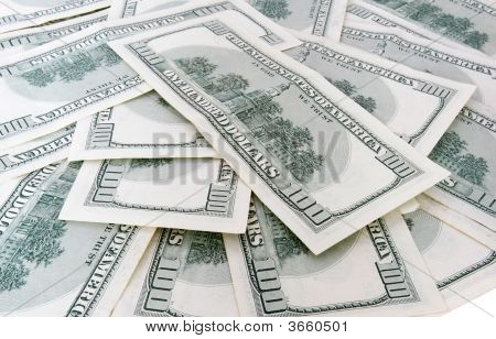 100 Us Dollars Banknotes Background