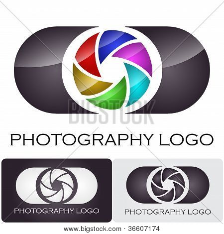 Photography company logo #vector