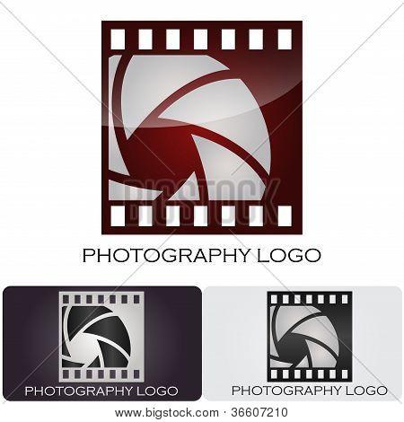 Insignia de la compañía de fotografía #vector