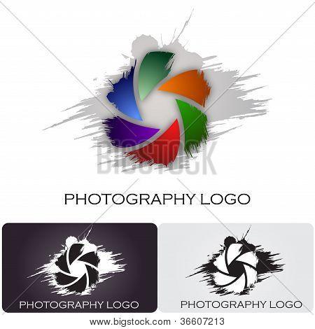 Estilo #Vector de la insignia de la compañía fotografía cepillo