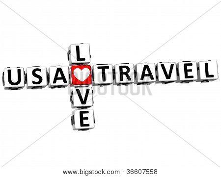 EUA 3D amor viagem Crossword