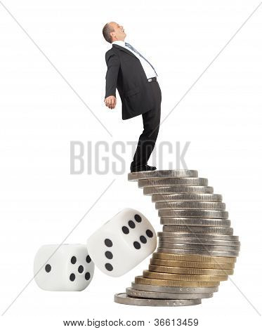 Unbalanced Business Man