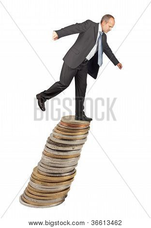 Unbalanced Businessman