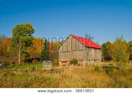 Landscape With An Old Barn