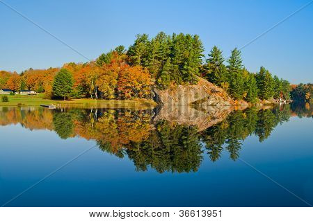 Autumn Landscape With Reflection