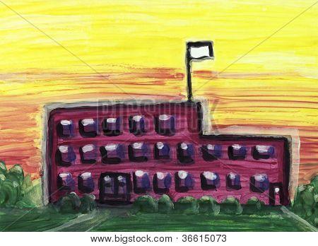 Large School Building