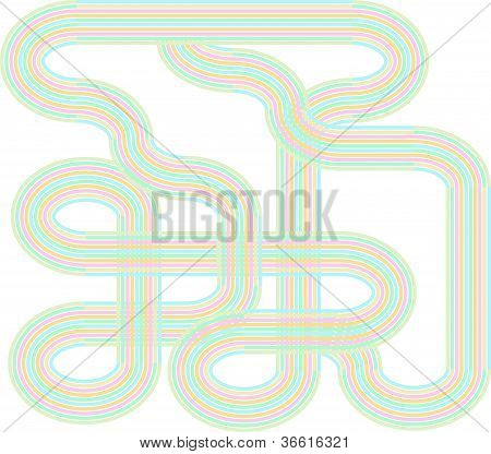 Abstract colorful lines background for design vector