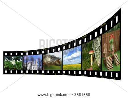 Filmstrip With Colorful Photos And Copyspace