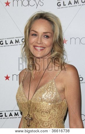 LOS ANGELES, CA - SEP 7: Sharon Stone at Macy's Passport Presents: Glamorama - 30th Anniversary in Los Angeles held at The Orpheum Theater on September 7, 2012 in Los Angeles, California.