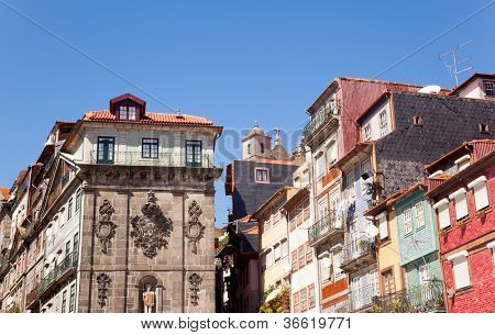 Oporto Ribeira, typical houses, Portugal