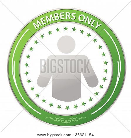Members Only Circle Stamp illustration design over white