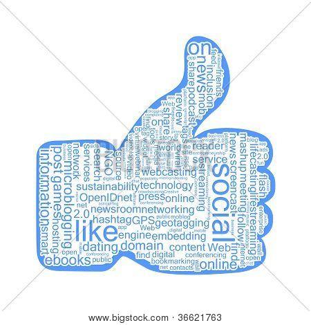 Social tags cloud