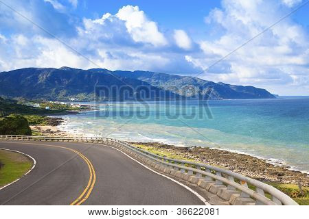 Coastline Of Kenting National Park In Taiwan
