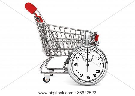 Stopwatch With Shopping Cart