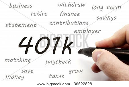 401K Being Handwritten
