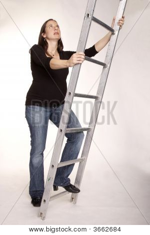 Woman With Ladder