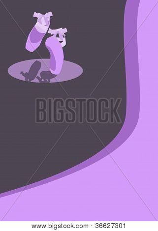 Ballet Pointes Shoes Background