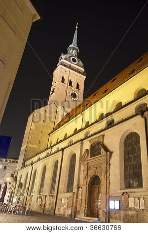 """Alter Peter"" church in Munich, Germany"