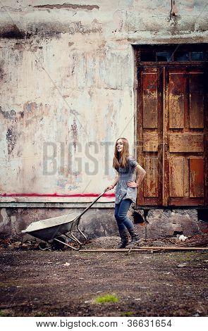 Girl In Ruins