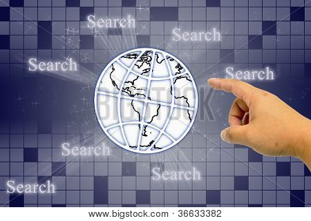 Hand Clicking Icon Search