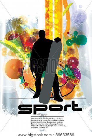 Snowboarder. Sport poster