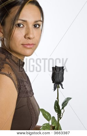 Hispanic Woman Posing
