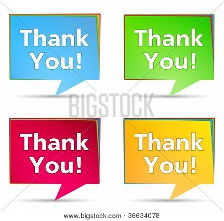 Speech bubbles with 'Thank You!' words