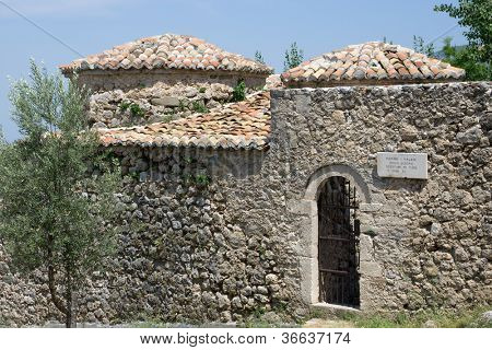 inside the castle of Kruja there is a medieval building that served as Turkish baths (hamam)