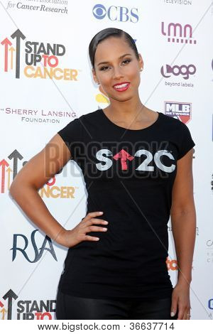 LOS ANGELES - SEP 7:  Alicia Keys arrives at the 2012 Stand Up To Cancer Benefit at Shrine on September 7, 2012 in Los Angeles, CA
