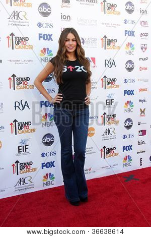LOS ANGELES - SEP 7:  Sofia Vergara arrives at the 2012 Stand Up To Cancer Benefit at Shrine on September 7, 2012 in Los Angeles, CA