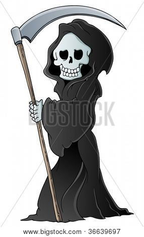 Grim reaper theme image 3 - vector illustration.