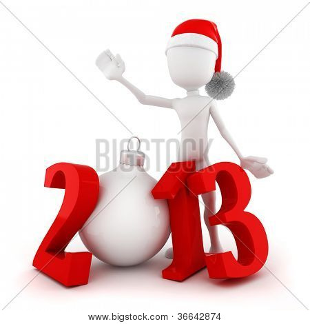 3d man, Happy new year 2013!