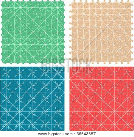 Seamless abstract pattern set fabric furniture