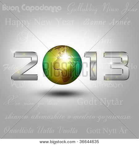 World Globe New Year 2013