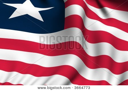 Rendered Liberian Flag