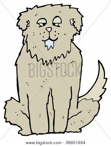 big drooling dog cartoon