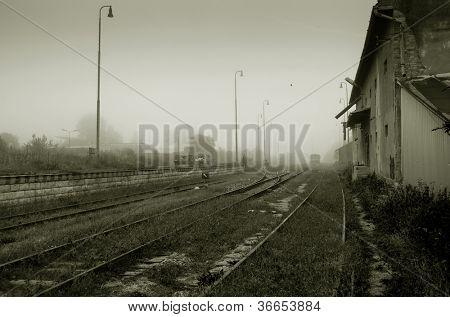 Derelict railway station, Spisskie Podhradie, Slovakia