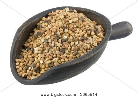 Scoop Of Roasted Buckwheat (Kasha)