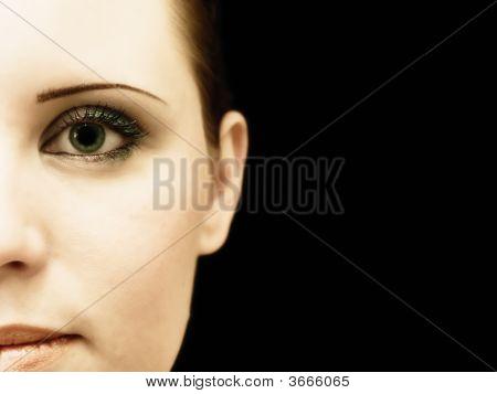 Half Woman Face
