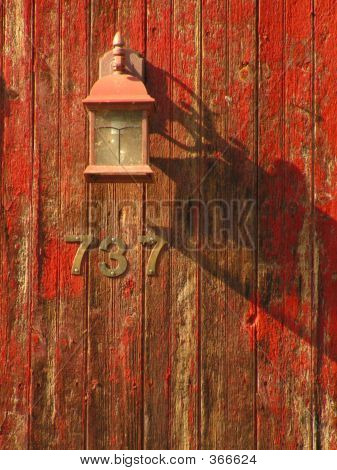 Ligth Fixture On Barn