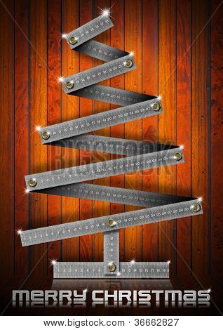 Metal Folding Rule Christmas Tree