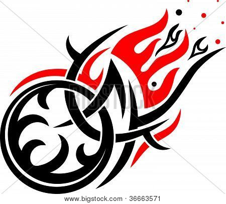 Vector gothic black and red pattern