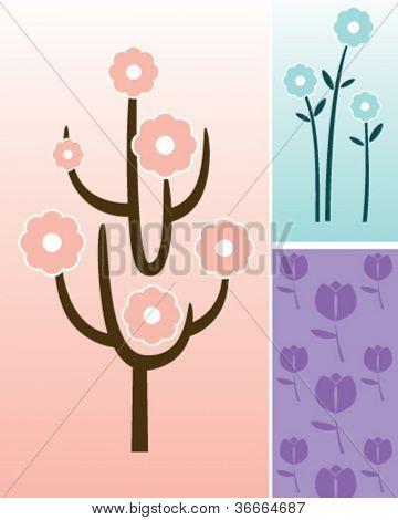 flower decal set